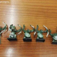 Juegos Antiguos: WARHAMMERARQUEROS ORCOS 5 UNIDADES. Lote 107647811