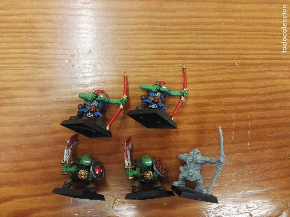 WarhammerArqueros y guerreros orcos 3+2 unidades segunda mano