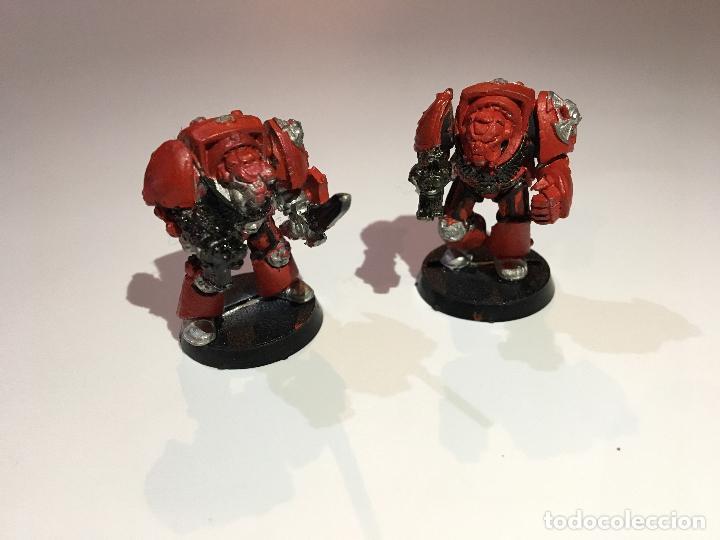 lote 2 figuras space marines warhammer 40000 citadel miniatures 40k 1991 marines espaciales segunda mano