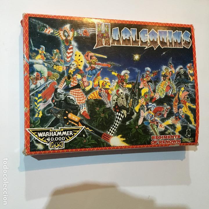 Caja vacía harlequins dancers of death warhammer 40000 citadel miniatures 40k regiments of renown segunda mano