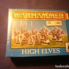 Juegos Antiguos: WARHAMMER: HIGH ELVES (CAJA PRECINTADA CON EL LOTE ORIGINAL DE 8 FIGURAS) . Lote 110367319
