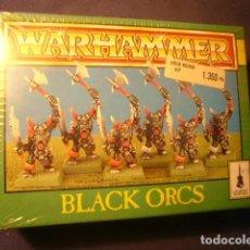 Juegos Antiguos: WARHAMMER: BLACK ORCS (CAJA PRECINTADA CON EL LOTE ORIGINAL DE 6 FIGURAS). Lote 110369067