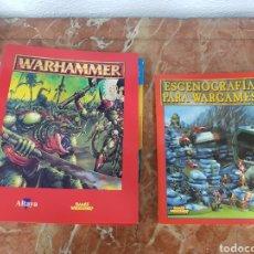 Juegos Antiguos: CARPESANO WARHAMMER DE ALTAYA Y LIBRO ESCENOGRAFÍA PARA WARGAMES. Lote 115177659
