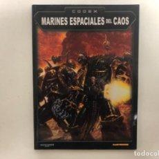Juegos Antiguos: MARINES ESPACIALES DEL CAOS. WARHAMMER 40000. GAMES WORLSHOP, 2002.. Lote 121253291