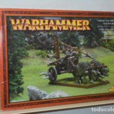 Juegos Antiguos: WARHAMMER CARRO DE GELIDOS ELFO OSCURO 85-12 - GAMES WORKSHOP OFERTA. Lote 121890115