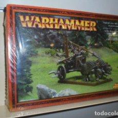 Juegos Antiguos: WARHAMMER CARRO DE GELIDOS ELFO OSCURO 85-12 - GAMES WORKSHOP. Lote 121890275