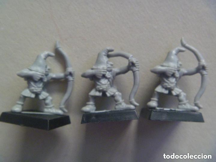 LOTE DE 3 FIGURAS DE DUENDES GUERREROS, ARQUEROS . DE WARHAMMER (Juguetes - Rol y Estrategia - Warhammer)