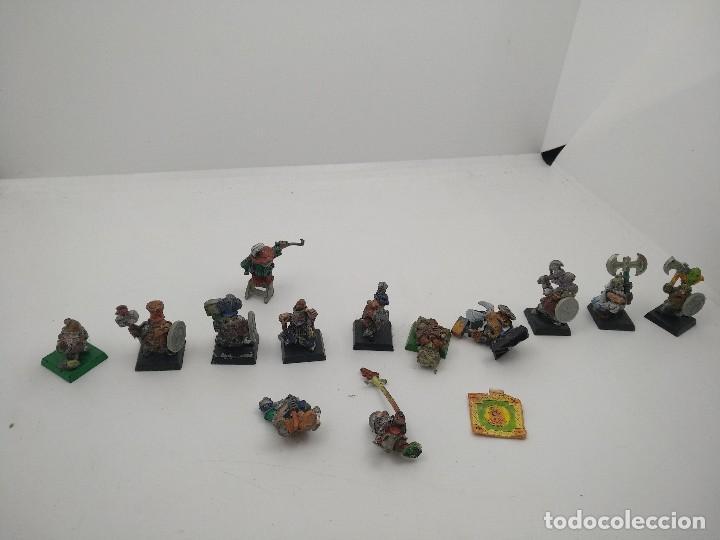 Juegos Antiguos: Lote Enanos Warhammer - Foto 4 - 127452703