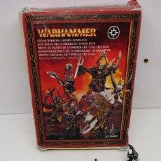 Juegos Antiguos: FIGURAS WARHAMMER METAL GRUPO DE MANDO GUERREROS DEL CAOS ELEGIDOS. Lote 173647924