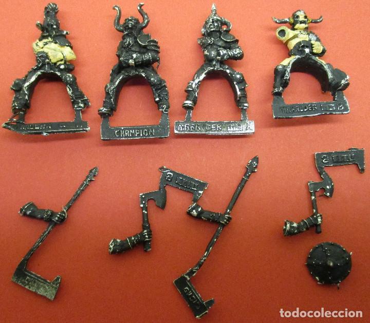 figuras warhammer metal BÁRBAROS DEL CAOS A CABALLO, MARAUDERS HORSEMEN, usado segunda mano
