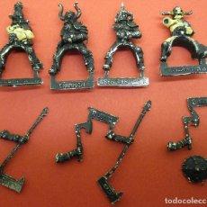 Juegos Antiguos: FIGURAS WARHAMMER METAL BÁRBAROS DEL CAOS A CABALLO, MARAUDERS HORSEMEN. Lote 129095423
