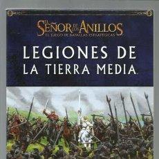 Juegos Antiguos: EL SEÑOR DE LOS ANILLOS, EL JUEGO DE LAS BATALLAS ESTRATEGICAS: LEGIONES DE LA TIERRA MEDIA, 2006.. Lote 263069580