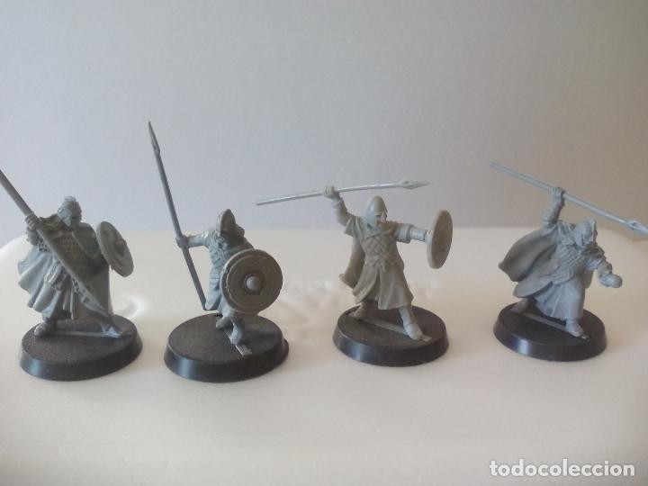 LOTE DE 4 LANCEROS GUERREROS, SOLDADOS EL SEÑOR DE LOS ANILLOS. WARHAMMER. . LORD OF THE RING (Juguetes - Rol y Estrategia - Warhammer)