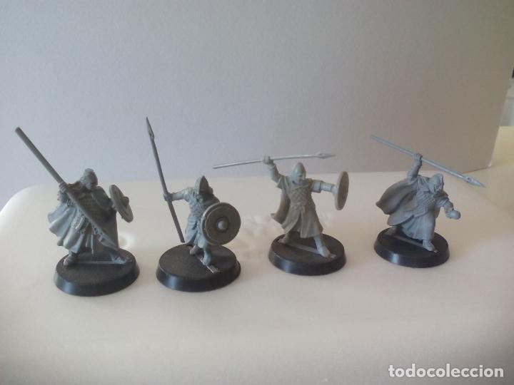 Juegos Antiguos: LOTE DE 4 lanceros GUERREROS, SOLDADOS EL SEÑOR DE LOS ANILLOS. WARHAMMER. . LORD OF THE RING - Foto 2 - 131102264