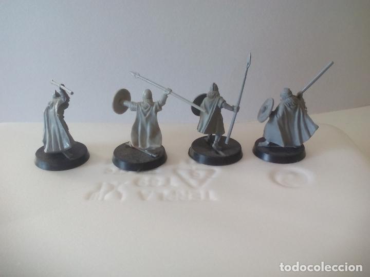 Juegos Antiguos: LOTE DE 4 lanceros GUERREROS, SOLDADOS EL SEÑOR DE LOS ANILLOS. WARHAMMER. . LORD OF THE RING - Foto 3 - 131102264