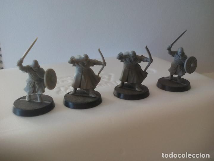 LOTE DE 4 GUERREROS, SOLDADOS EL SEÑOR DE LOS ANILLOS. WARHAMMER. . LORD OF THE RING (Juguetes - Rol y Estrategia - Warhammer)