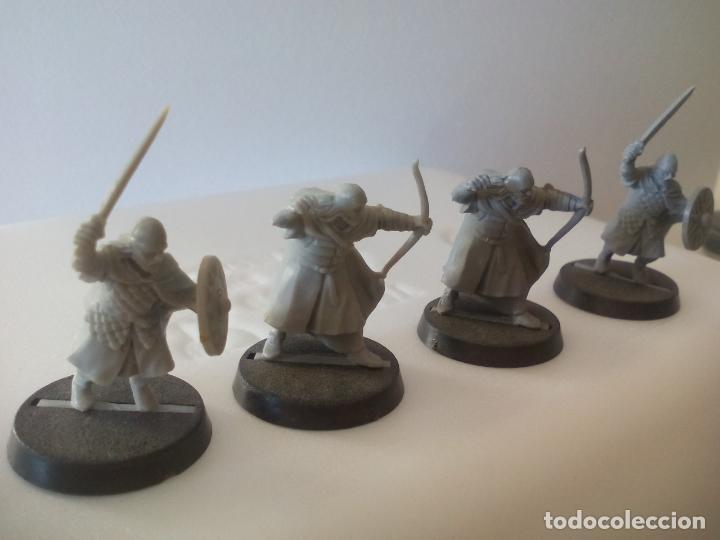 Juegos Antiguos: LOTE DE 4 GUERREROS, SOLDADOS EL SEÑOR DE LOS ANILLOS. WARHAMMER. . LORD OF THE RING - Foto 2 - 131102572