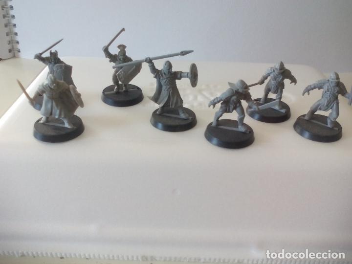 LOTE DE 7 GUERREROS, SOLDADOS EL SEÑOR DE LOS ANILLOS. WARHAMMER. . LORD OF THE RING (Juguetes - Rol y Estrategia - Warhammer)