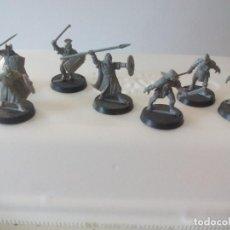 Juegos Antiguos: LOTE DE 7 GUERREROS, SOLDADOS EL SEÑOR DE LOS ANILLOS. WARHAMMER. . LORD OF THE RING. Lote 131103676