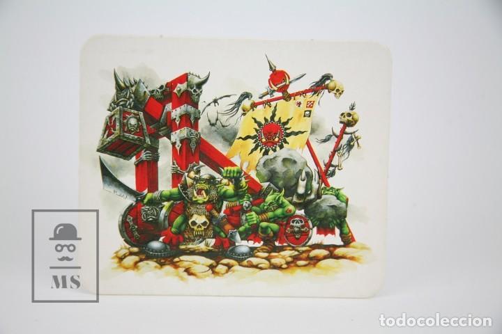 Juegos Antiguos: Conjunto de 5 Plantillas Acartonadas - Unidades Warhammer - Orcos, Lanza Virotes Elfos... - Años 90 - Foto 4 - 131976850