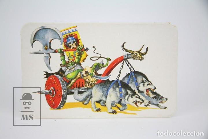 Juegos Antiguos: Conjunto de 5 Plantillas Acartonadas - Unidades Warhammer - Orcos, Lanza Virotes Elfos... - Años 90 - Foto 5 - 131976850