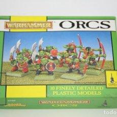 Juegos Antiguos: CAJA VACÍA - WARHAMMER ORCS - REF. 0760 - CITADEL MINIATURES - GAMES WORKSHOP - AÑO 1993. Lote 131993979