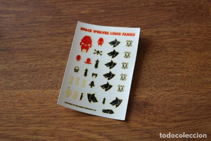 Pegatinas Space Wolves Long Fangs Warhammer 40000 40k Games Workshop juego segunda mano