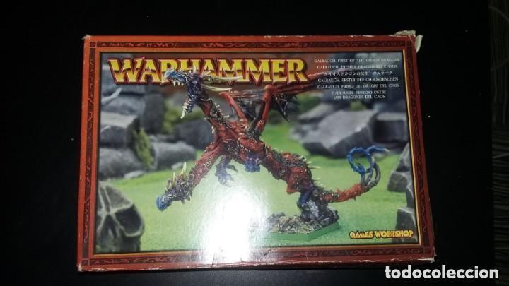 Usado, galrauch metal caos chaos dragon Warhammer todo metal segunda mano
