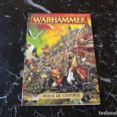 Jogos Antigos: WARHAMMER FANTASIA HOJAS DE CONTROL 1996 (GAMES WORKSHOP). Lote 136109914