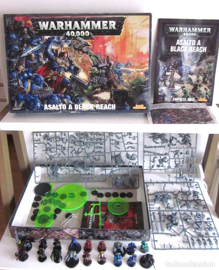 Warhammer 40000 Asalto a Black Reach Citadel con Reglamento Instrucciones y Guía pintura segunda mano