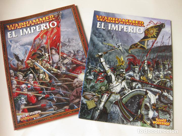 LIBRO DEL EL IMPERIO Y UN SUPLEMENTO DE EJÉRCITOS WARHAMMER - GAMER WORKSHOP (Juguetes - Rol y Estrategia - Warhammer)