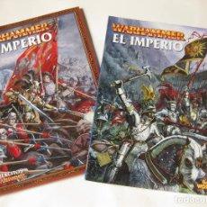 Juegos Antiguos: LIBRO DEL EL IMPERIO Y UN SUPLEMENTO DE EJÉRCITOS WARHAMMER - GAMER WORKSHOP. Lote 222334667