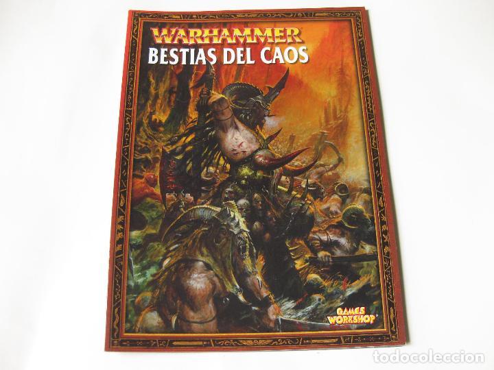 LIBRO DEL EJÉRCITO BESTIAS DEL CAOS - EJÉRCITOS WARHAMMER - GAMES WORKSHOP segunda mano