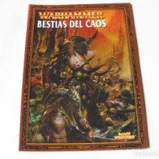 Juegos Antiguos: LIBRO DEL EJÉRCITO BESTIAS DEL CAOS - EJÉRCITOS WARHAMMER - GAMES WORKSHOP. Lote 136734454