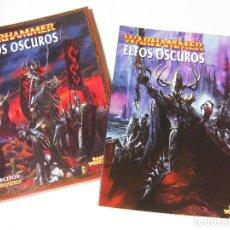 Juegos Antiguos: LIBRO DEL EJÉRCITO DE ELFOS OSCUROS Y UN SUPLEMENTO DE EJÉRCITOS WARHAMMER - GAMES WORKSHOP 2001. Lote 136739734