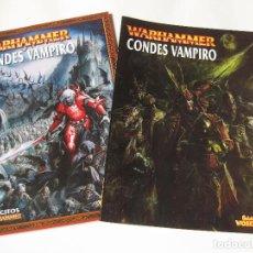 Juegos Antiguos: LIBRO DEL EJÉRCITO DE CONDES VAMPIRO Y UN SUPLEMENTO DE EJÉRCITOS WARHAMMER - GAMES WORKSHOP. Lote 136749438