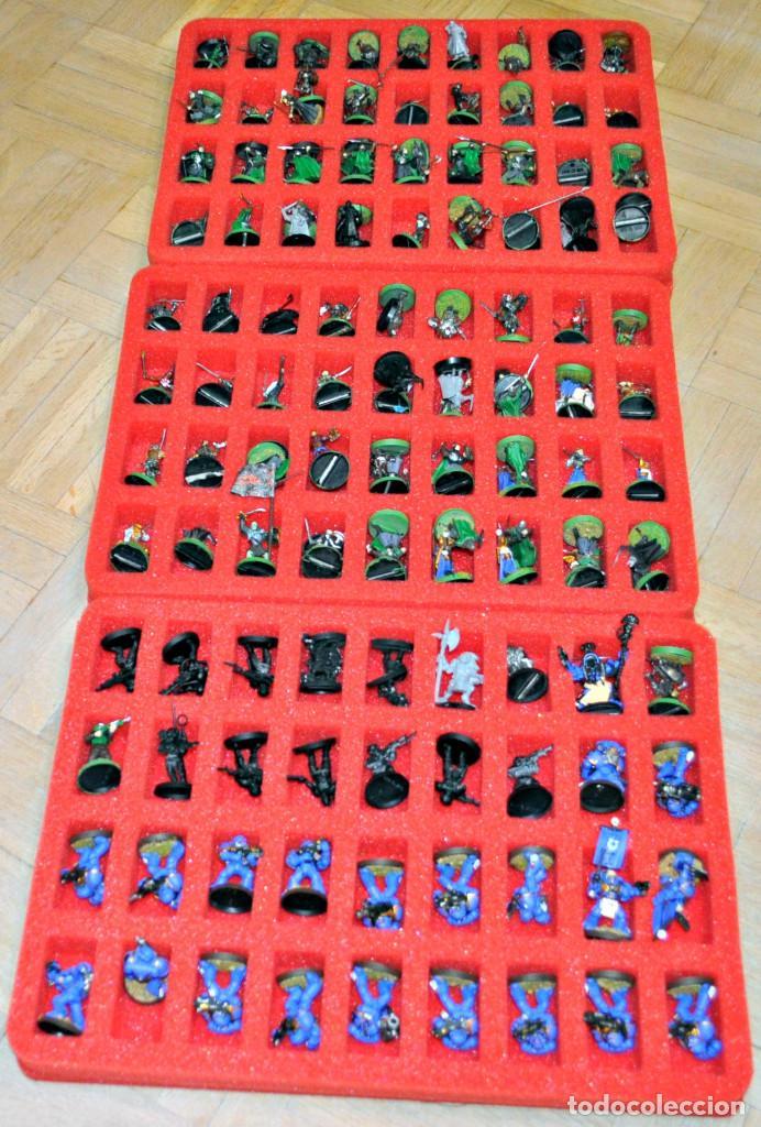 Juegos Antiguos: MALETÍN CON 152 FIGURAS DE GAMES WORKSHOP - Foto 5 - 140322102