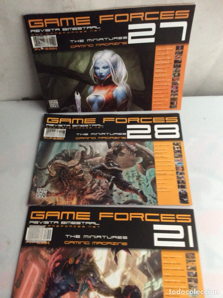 REVISTA GAME FORCES THE MINIATURES GAMING MAGAZINE , LOTE DE 7 EJEMPLARES (Juguetes - Rol y Estrategia - Warhammer)