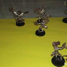 Juegos Antiguos: LOTE 7 FIGURAS WARHAMMER DE METAL, BRUJAS ELDARS OSCUROS. Lote 143059686
