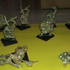 Juegos Antiguos: LOTE 8 FIGURAS WARHAMMER DE METAL ORCOS. Lote 143060090