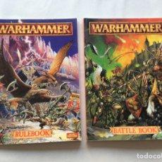 Juegos Antiguos: WARHAMMER FANTASY BATTLES. RULEBOOK & BATTLEBOOK. 1994. Lote 145056730