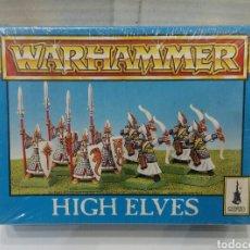 Juegos Antiguos: WARHAMMER HIGH ELVES. ALTOS ELFOS. NUEVO EN CAJA. PRECINTADO. 8 FIGURAS. CITADEL. REF 0750.. Lote 145443156