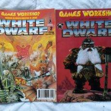 Juegos Antiguos: WHITE DWARF #1 Y #2. Lote 147711930