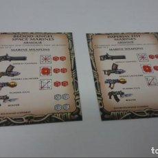 Juegos Antiguos: CRUZADA ESTELAR. TABLAS DE ARMAMENTO. EN INGLES. Lote 147942726