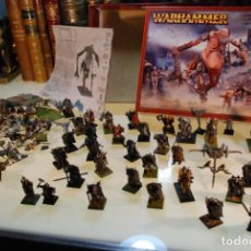 Juegos Antiguos: CAJA CON FIGURAS DE WARHAMMER - GIGANTE - GAMES WORKSHOP - FIGURAS DE PLÁSTICO Y PLOMO -. Lote 148136262