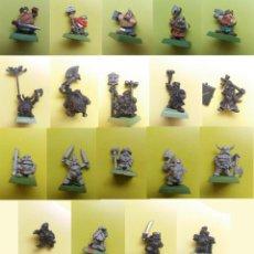 Juegos Antiguos: WARHAMMER ENANOS METAL ANTIGUOS MARAUDER CITADEL MORDHEIM 19 FIGURAS. Lote 148549698