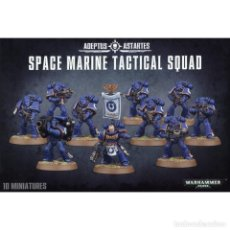 Juegos Antiguos: SPACE MARINE TACTICAL SQUAD WARHAMMER 40000 10 MINIATURAS. Lote 149636626