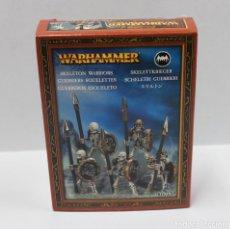 Juegos Antiguos: WARHAMMER - GUERREROS ESQUELETOS - CITADEL - A ESTRENAR. Lote 156587706