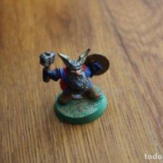 Juegos Antiguos: ENANO HÉROE MAZA ADVANCED HEROQUEST MINIATURA JUEGO MESA VINTAGE WORKSHOP CITADEL. Lote 151740346