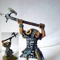 Juegos Antiguos: WARHAMMER CHAOS BEASTMEN HOMBRE BESTIA Nº2 CLASSIC METAL EDITION WELL PAINTED. Lote 153369378